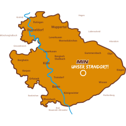 Unser Liefergebiet in Nordrhein-Westfalen